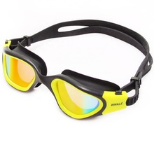 Eco-Friendly silicone colourful Wide Vision waterproof racing competition Swimming Goggles