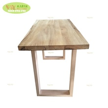 Home <strong>furniture</strong> solid stave ash wood dining table / customized face grain restaurant wood dining table