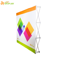 Fabric tension pop up wall display stands
