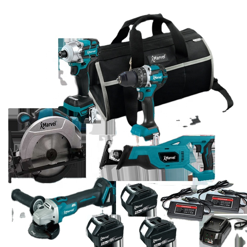 MARVEL High Quality N in One Brushless Cordless power <strong>tools</strong> lxt1500 15 pieces 18v Combo kits cordless