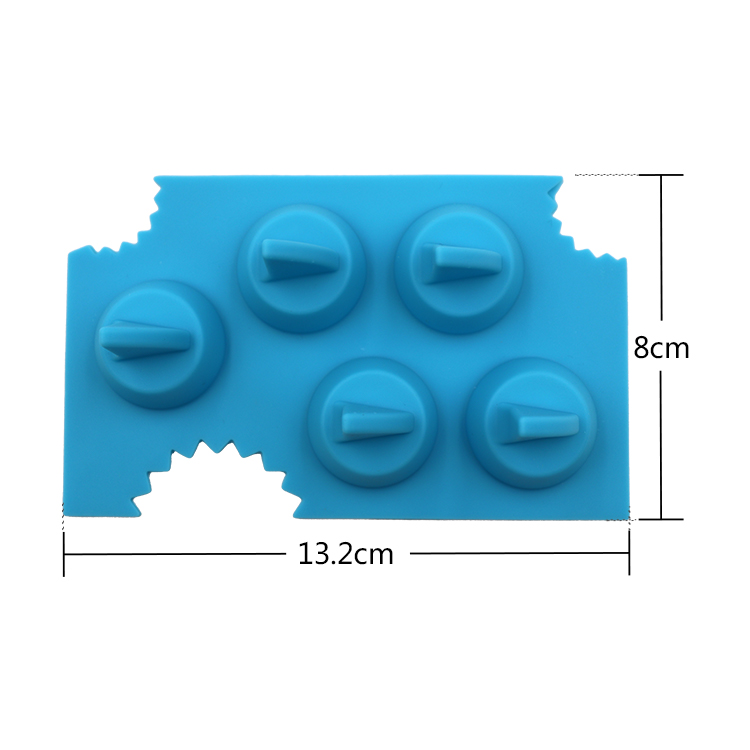 Wholesale Custom Cool Silicone Ice Cube Freeze Mold Shark 3D Shape Ice Tray Ice Cream Tools for Party Bar Kitchen