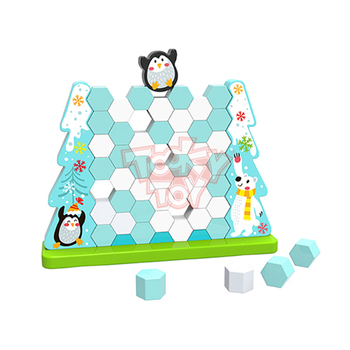 Educational Colorful Wooden Icebreaking Game - Penguin Stack Toy