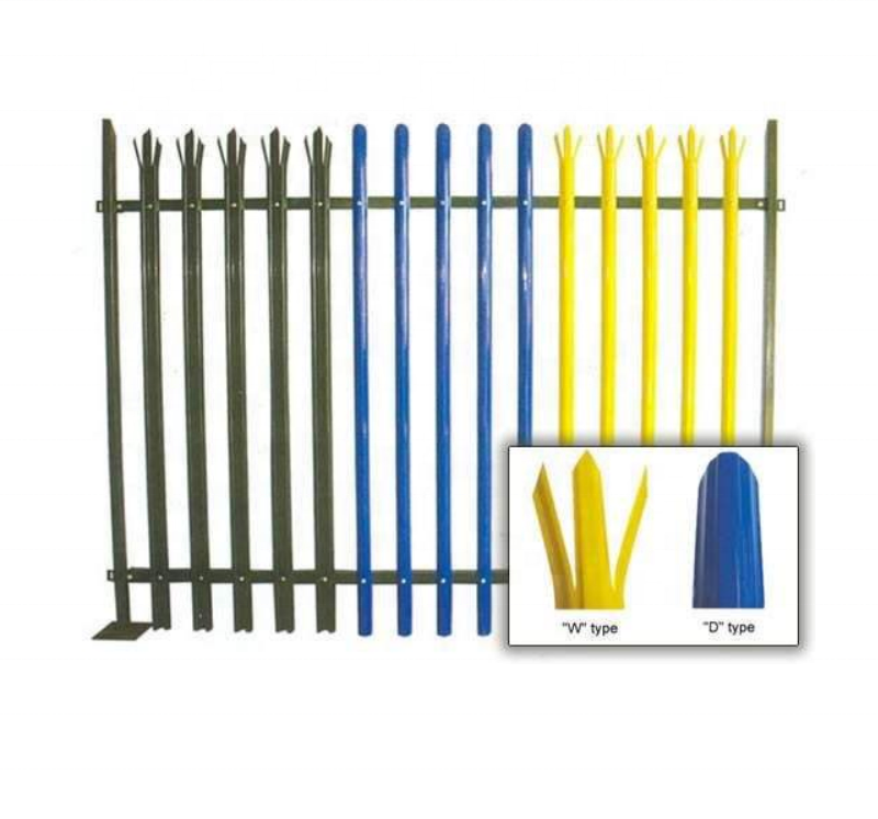 High Quality Commercial Industrial Steel Security Palisade Fencing, <strong>D</strong> Section Palisade Fence, W Section Palisade Fence