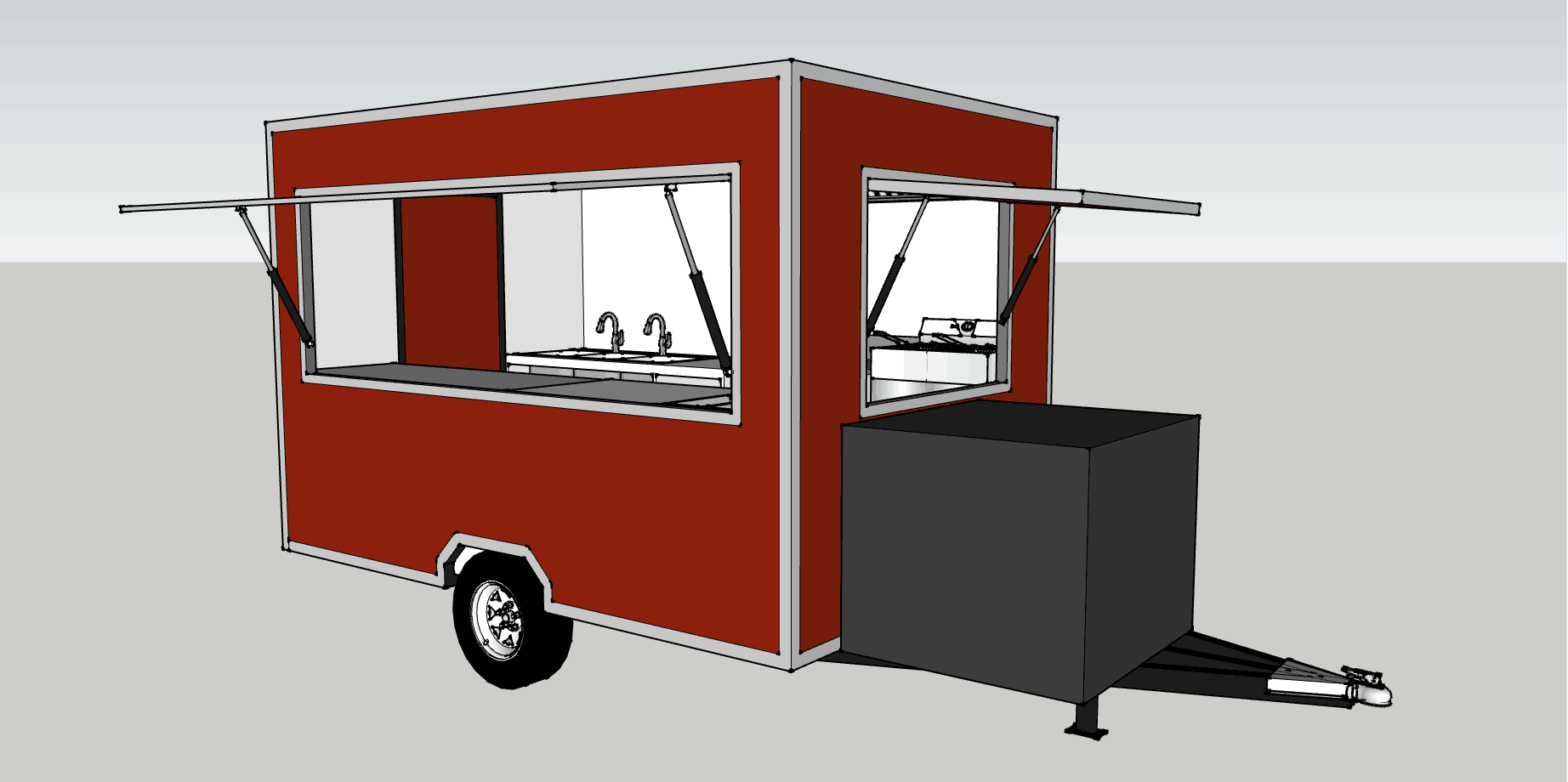 American Standard Square Top Outdoor Ice Cream Fast Food Truck/Mobile Food Truck For Sale