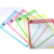 10 Reusable Hanging Dry Erase Pockets With Pens Write Multi-Color 1 Pack Waterproof Colorful For School