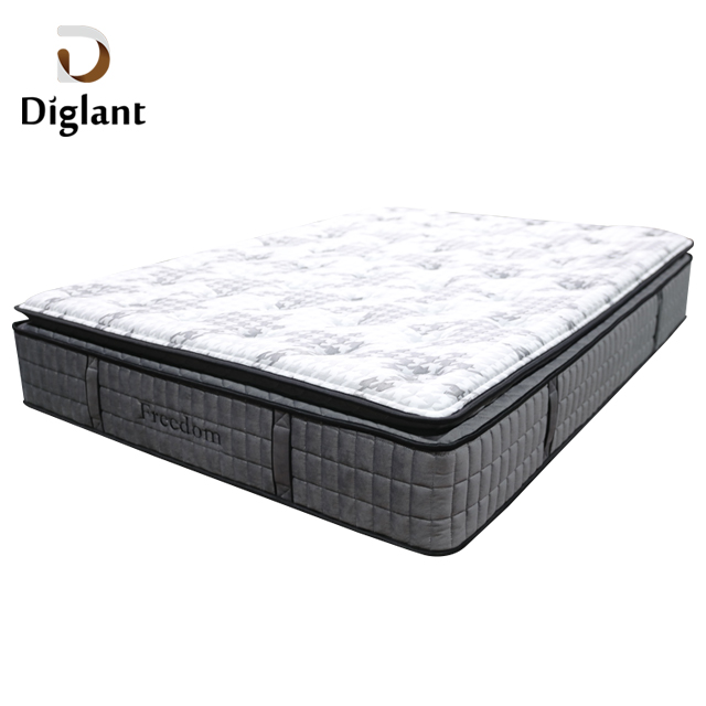 DM24 Diglant Latest Double Fabric Foldable King Size Gel Memory Natural Latex Single Bed Pocket spring mattress - Jozy Mattress | Jozy.net