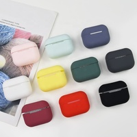 Headphone charging box silicone protective cover for airpods pro case apple wireless bluetooth headset