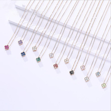 wholesale minimal birthstone jewelry dainty 925 sterling silver zodiac birthstone charms pendant <strong>necklace</strong>