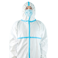 Best Selling coverall certificate en14126 disposable protective garments combinaison protection coverall