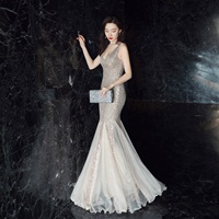 16538#New style magic evening dresses luxurious gown women sequin prom dress long