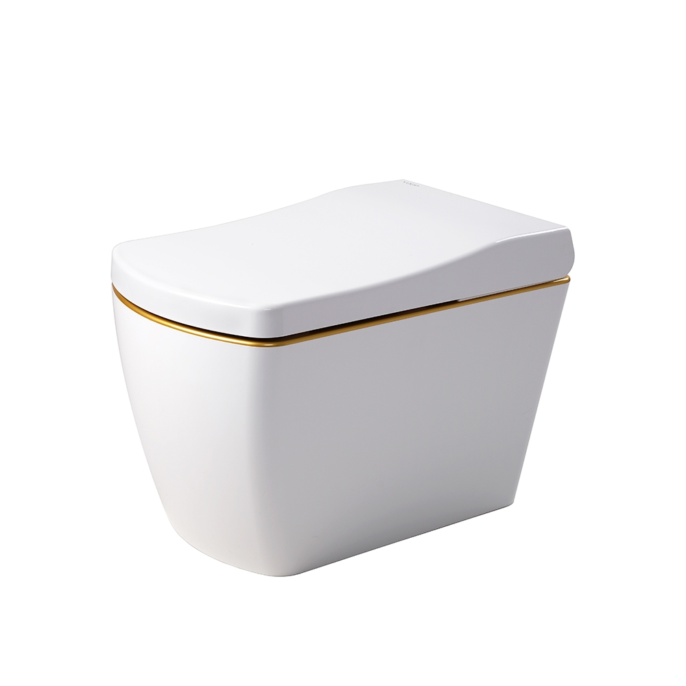 One piece intelligent smart gold automatic toilet bowl