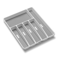 6 Compartments Plastic Cutlery Tray Organizer Kitchen No Slip Cutlery Trays