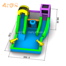 Kids water play slide inflatable / inflatable floating water slide / water slide inflatable commercial for sale