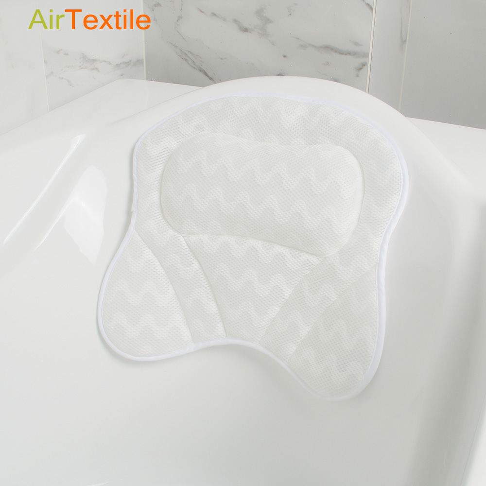 Soft and washable Massage cooling Bath pillow, Headrest Pillow for Bathtub