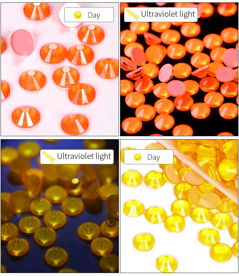 High Quality Neon Colors Flat Back Glass Rhinestones Non Hotfix Rhinestones Nail Crystal In Stock