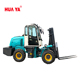 HUAYA 3 ton diesel Off road forklift with attachment can be customized
