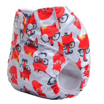 Cute Washable Prefold Reusable Soft Cotton Breathable Baby Diapers