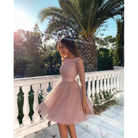 2019 wholesale fashion sexy women ballgown vestidos evening backless prom dress