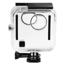45m Underwater Waterproof Shockproof PULUZ Housing Diving Case for <strong>GoPros</strong> Fusion, with Buckle Basic Mount &amp; Screw