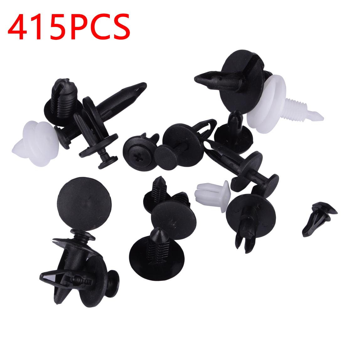 415Pcs/Set Auto Car Vehicle Body Plastic Push Pin Rivet Fasteners Trim Clip