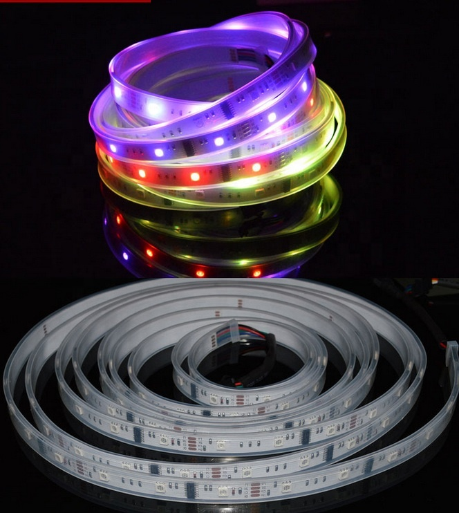 5050 RGB 6803 Dream Color led stripIC full set strip light with factory price