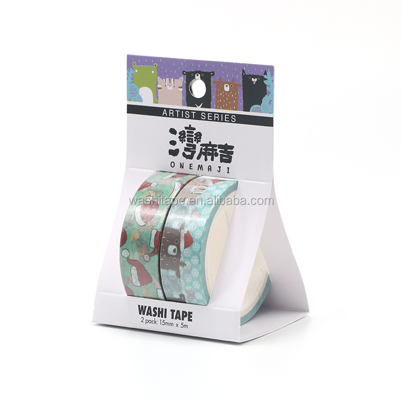 Cartoon onemaji decorative washi tape set paper roll with package