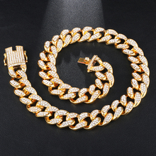New Color Wholesale Custom Iced Out 19mm Prong cuban link choker chain <strong>necklace</strong> For Men jewelry White Gold Men Gift