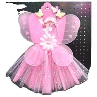 Kids Fairy Wing Costume Set Tutu Dress Magic Wand Butterfly Wings girls birthday party supplies