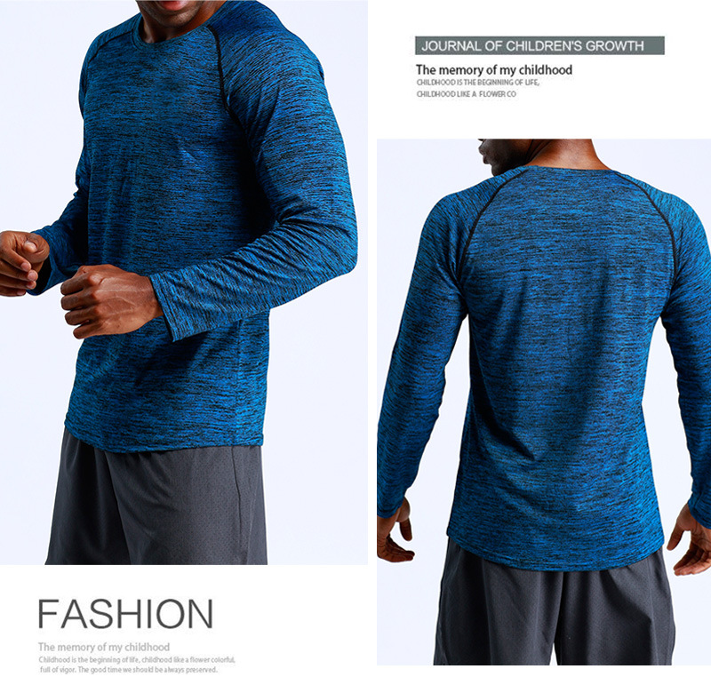 Wholesale 2019 New Style long sleeve Casual Sports mulscle Clothes Slim Compression mens Gym Training t shirt