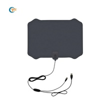 New Japan US amplified tv Antenna flat indoor 50miles clear HDTV mobile wireless digital TV antenna