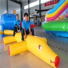 lovely float inflatable toy dog used in swimming pool