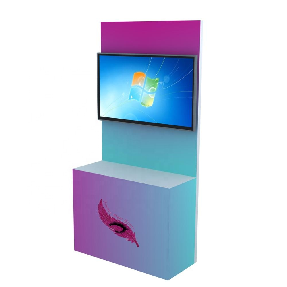 Detian offer exhibition stands portable 0.8x2.2m booth trade <strong>show</strong> design with TV mount