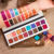 2019 Fashion Wholesale OEM Vegan Cosmetics Warm Matte Shimmer Customize Marble 16 Color Makeup High Pigment Eyeshadow Palette