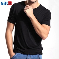 Summer Dry Fit Sports Gym Blank Plain Stretch Men Organic Cotton Round Neck Bamboo T Shirts