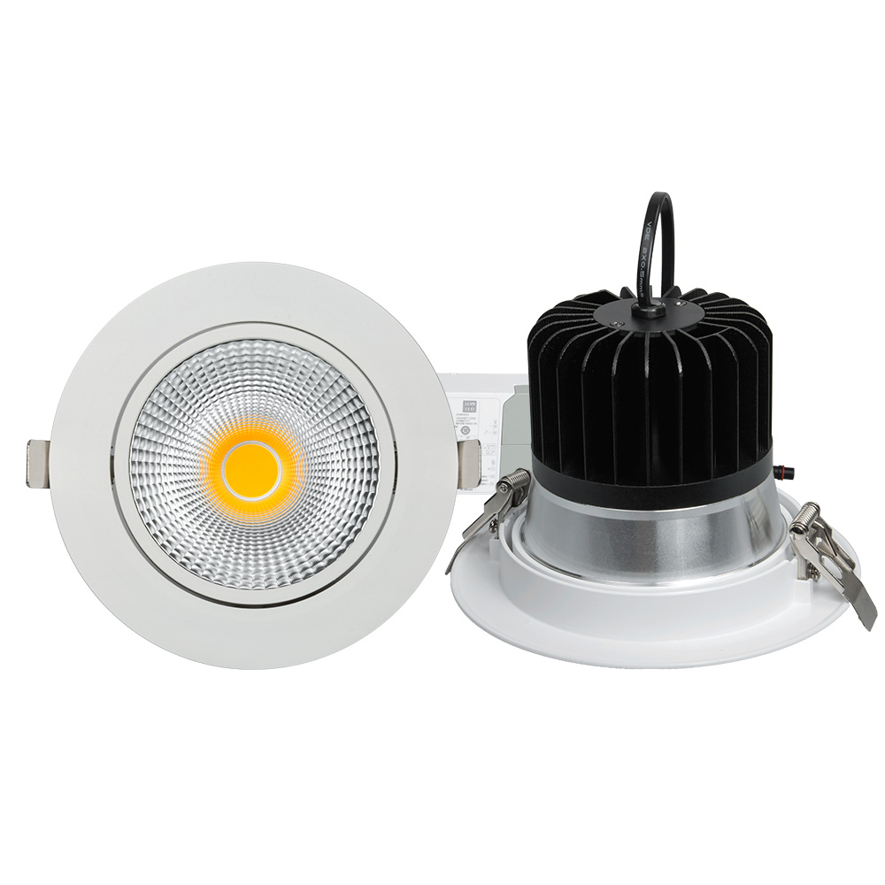 DALI dimmable CE/RoHS/SAA approved anti-glare UGR7-20 flicker free 30w beam angle adjustable cob recessed led light <strong>downlight</strong>