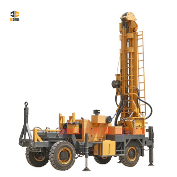 Portable 400m depth trailer mounted rotary hydraulic farm irrigation water well drilling rig machine for sales