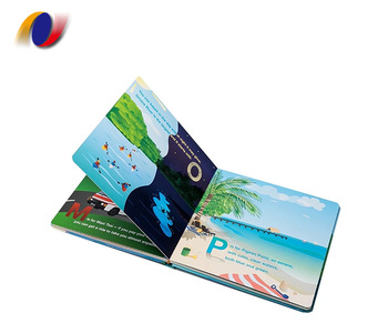 Customized coloring children's cardboard books printing services kids board book