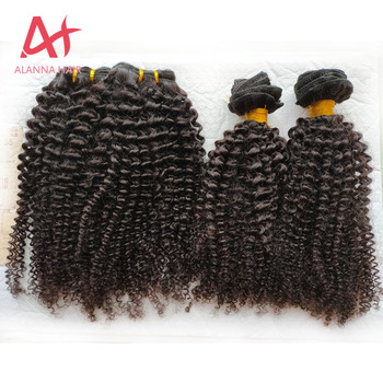 "Wholesale 3C4A Kinky Virgin Hair Bundles Best Quality Grade 10A Mongolian Human Virgin Kinky Curly Hair 10""-40"" Big Stock"