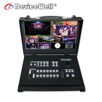 HDS9106 Devicewell Six Channel Portable Live Wedding Video Mixer Switcher