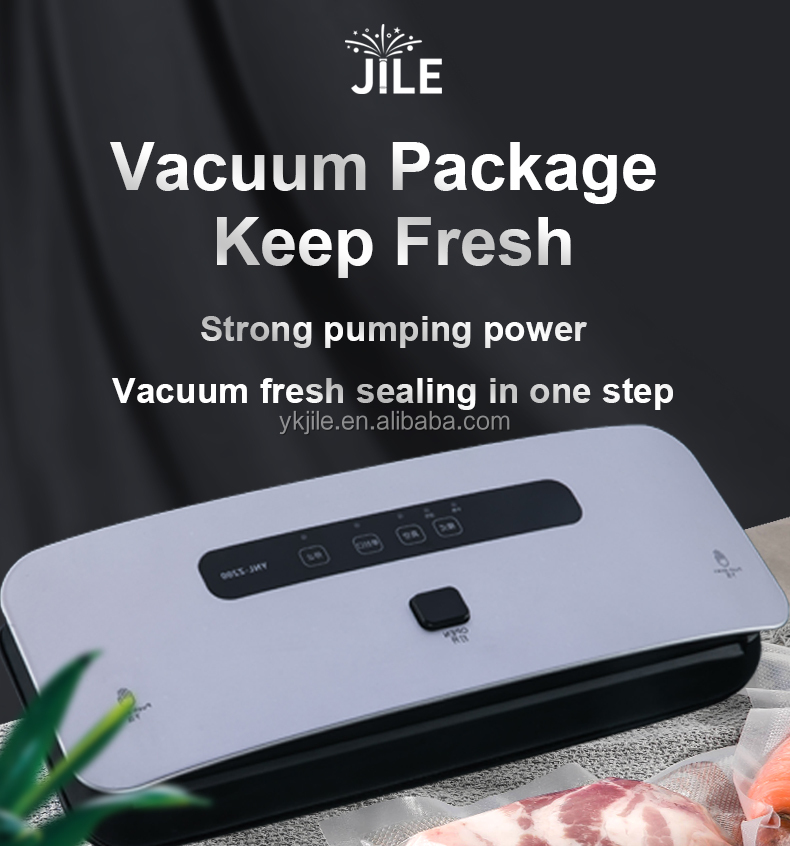 Food Vacuum Sealer Machine 110w Black Buttons Power Plug Plastic Rohs Color Support Hand Weight