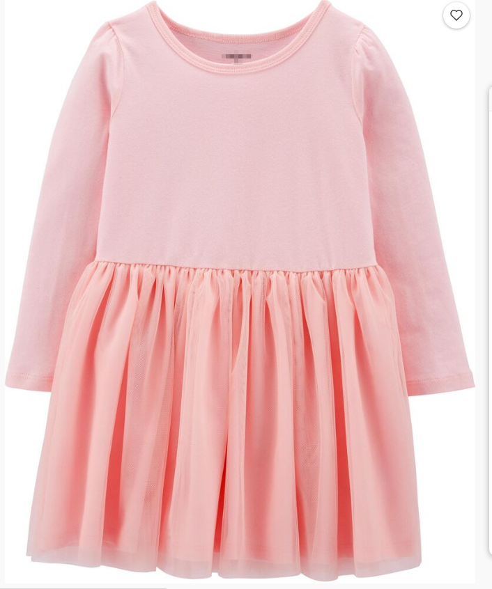 custom print wholesale girls summer cotton tutu dress long sleeves