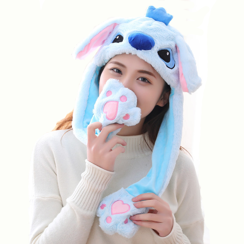 New Hot Selling High Quality Tik Tok Animal Plush Ear Flap Moving Ear Jumping Rabbit Bunny Hat Bunny <strong>Cap</strong>