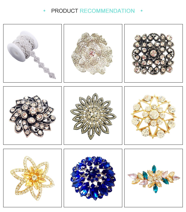 Hot design flower shape discount rhinestone buttons for wedding