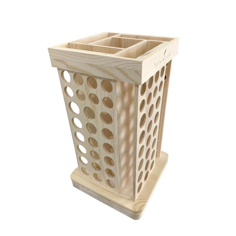 wooden oil bottle rotating display rack spice rack holder factory made in stock wholesale and <strong>retail</strong>