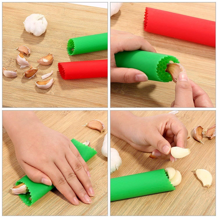 100% FDA Approved Garlic Peeler Silicone Kitchen Garlic Press