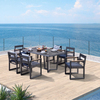 Exclusive exquisite Dining Set Leisure Aluminum Outdoor Chair Table Garden Furniture Gazebo Furniture