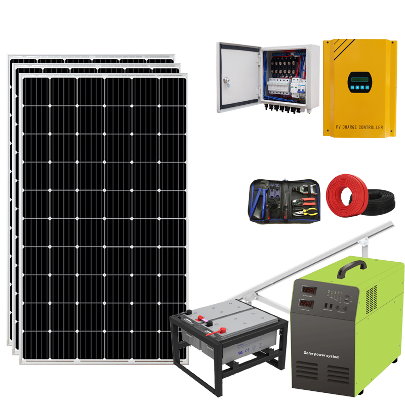Easy installed solar system for home <strong>1000w</strong> solar set powered a/c unit