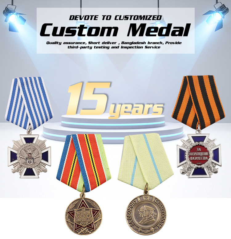 China Factory Cheap Custom Military Prefect Medal Enamel Custom Souvenir The Award Army Badge