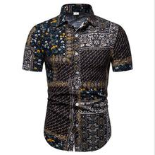 Wholesale Summer <strong>Men's</strong> Hawaiian <strong>Shirt</strong> Floral Printed Casual Plus Size <strong>Shirts</strong> For Men