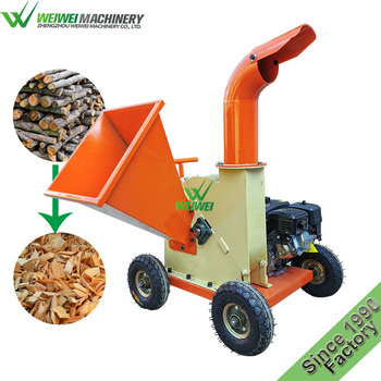 Weiwei chips making heptose tree wood sprig chipping and crushing machinery